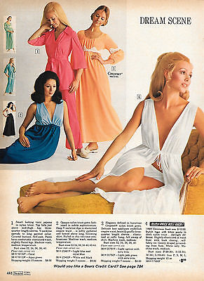 Tiny Lot of Vintage Catalog Lingerie Nightwear Photo Clippings