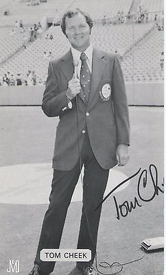 Tom Cheek SIGNED autograph 1977 MCCARTHY POST CARD Toronto Blue Jays HOF