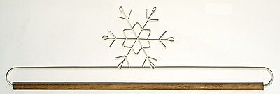 16 INCH SNOWFLAKE QUILT HANGER HOLDER, With Dowel Rod From Ackfeld Manufacturing