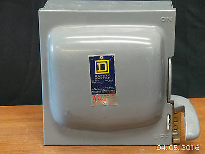 Square D Safety Switch H321N 30 Amp 240 VAC 3 Pole Disconnect Fusable New