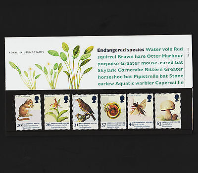 OPC 1998 Great Britain Endangered Species Set MNH Royal Mail Packet Sc#1785-90