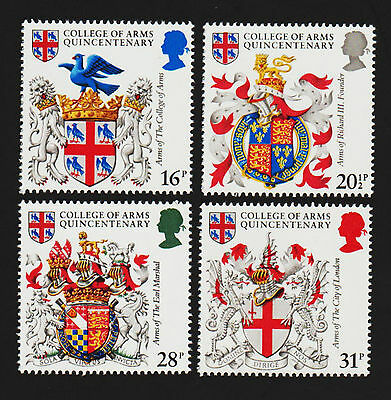 OPC 1984 Great Britain Heraldry Set Sc#1040-3 MNH