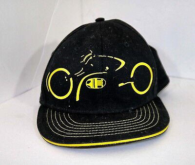 DISNEY TRON Movie LightCycle Fitted Baseball Cap Hat Black Yellow One Size Neon
