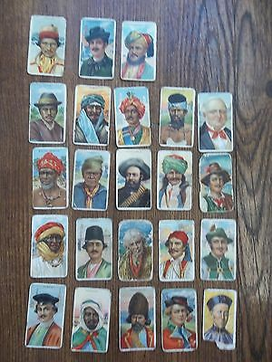 """Vintage Recruit Cigar Cards """"types Of Nations"""" Lot 24 Cards"""