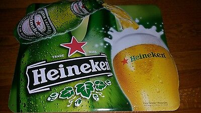 """Heineken Beer Tin Sign 20"""" x 17"""" from 2001 for the Man Cave"""