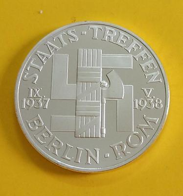 Commemorative Coin Mussolini&Hitler Das Dritte Reich German Leader Swastika Coin