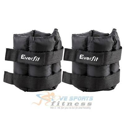5KGx2 Adjustable Ankle Wrist Gym Weights Strap Fitness Exercise Home Gym Pair