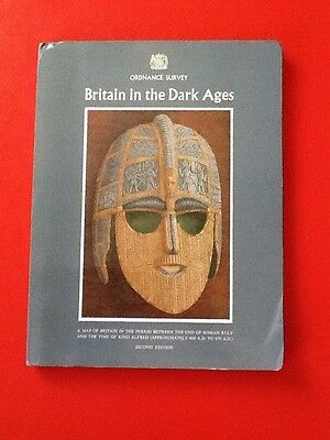 Map of Britain on the Dark Ages 1974 Ordnance Survey Book + Map