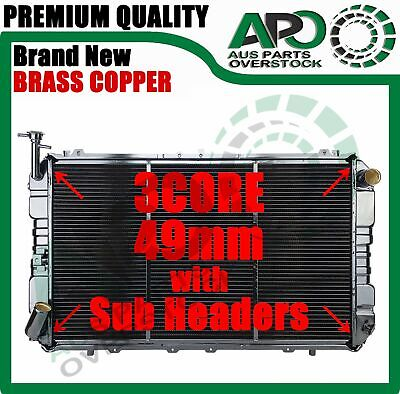 3Row Copper Brass H/Duty Radiator For NISSAN PATROL GQ Y60 Diesel Manual Only