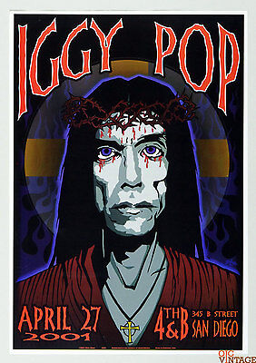 Iggy Pop Poster 2001 Apr 27 San Diego by Chuck Sperry