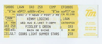 Kenny Loggins Ticket 1997 Aug 6 Fiddler's Green Amphitheatre Unused