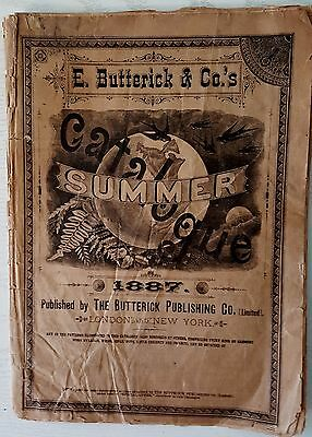 Antique E BUTTERICK & Co Sewing Patterns Summer Catalogue 1887 London  New York