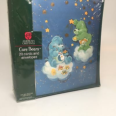 Vintage Care Bears Christmas Cards and Envelopes 20 Total