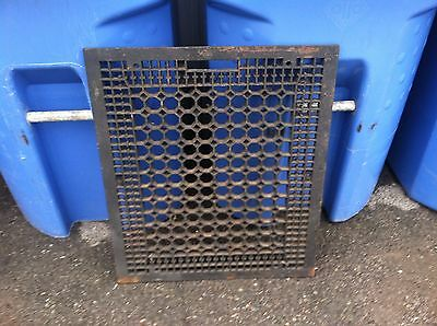 "Antique Victorian Cast Iron  Cold  Air Grate Circa 26"" by 22""  Return Register"