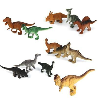 Pack of 12pcs Plastic Colorful Manmade Dinosaur Toy Action Figure Collection