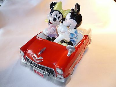 Schmid Mickey and Minnie 55 chevy music box