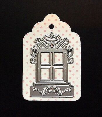 Decorative Window Frame Metal Cutting Dies 3pce For Scrapbooking And Card Making