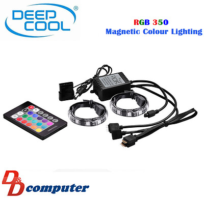 Deepcool RGB 350 Magnetic Colour Lighting inside Computer Desktop PC Gaming Case