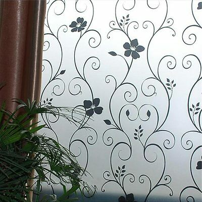 Privacy Cover Bathroom Bedroom Frosted Window Glass Film Sticker Home Decoration