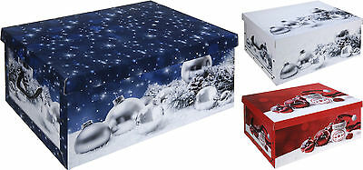 Cardboard Large Storage Boxes With lids Christmas Storage Box effect design