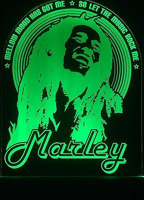 Bob Marley LED Sign + Remote,Collectables,Bar Sign,Man Cave,display