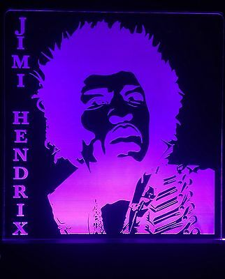 Jimi Hendrix LED Sign + Remote,Collectables,Bar Sign,Man Cave,display