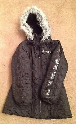 Pineapple Hooded Coat Age 9 - 10 Years Black Girls Debenhams