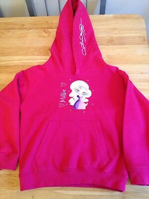 Claireabella Girls Hooded Top Age 5 - 6 Years Pink Millie