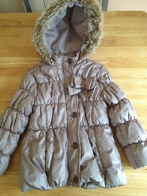 Next Girls Hooded Coat Age 2 - 3 Years Beige
