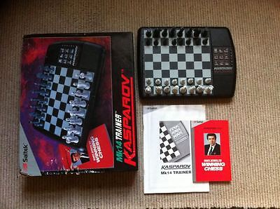 Kasparov MK14 Trainer Electronic Chess Training Programme By Saitek 1994