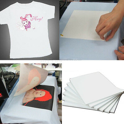 10 sheets A4 Iron Heat Transfer Paper For Light Cotton T-shirt Inkjet Print
