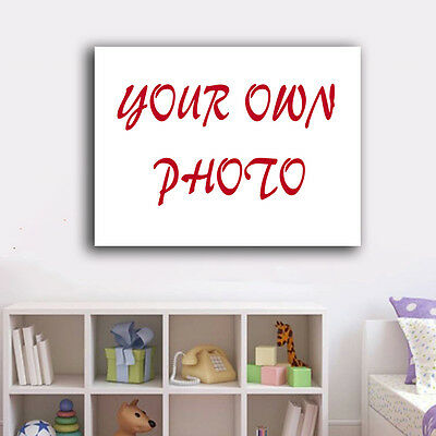 Custom Photo Stretched Canvas Photo Prints Framed Wall Art Home Decor Gift DIY