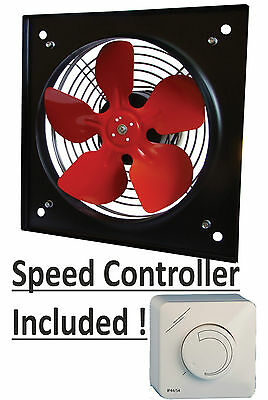 "INDUSTRIAL EXTRACTOR FAN 8"", 200mm, 240 V, 1170 m3/h with speed cotroller"