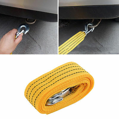 4M Towing Rope Heavy Duty 3 Tons Car Road Recovery Tow Strap Trailer Steel Wire