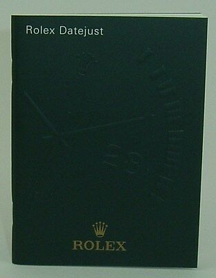 Genuine Rolex booklet vintage Datejust instruction 2006
