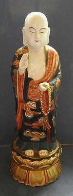 Large & Fine Japanese Kutani Porcelain Figure Of Buddha -  Early 20Th Century