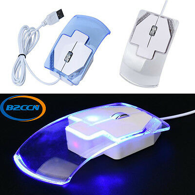 1600DPI Optical USB Cable LED Wired Mini Gamer Mouse Mice For PC Laptop Computer