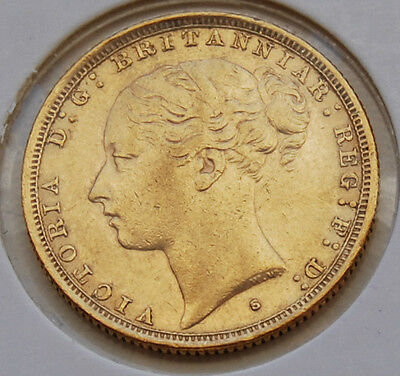 1886 Sydney Young Head St George Sovereign Coin