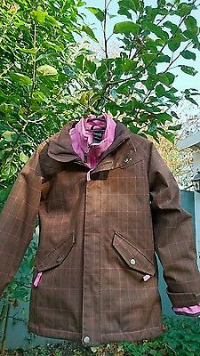 North Face Girls Jacket Size M/m Brown Pink Excellent Condition 2 Pieces