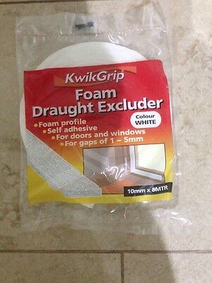 Everbuild KwikGrip Foam Draught Excluder White Extra Wide Profile Windows Doors