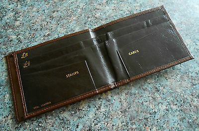 VINTAGE ~ Mens Leather Wallet ~ Bifold ~ Excellent Little Used Condition