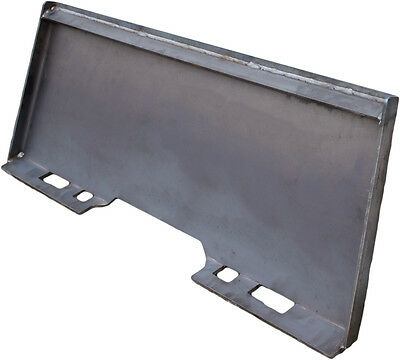 """5/16"""" Heavy Duty Universal Skid Loader Quick Attach Skid Steer Solid Plate"""