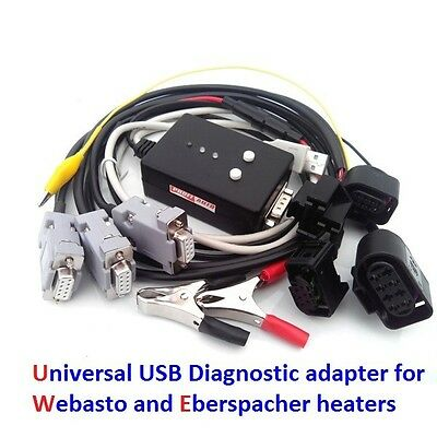USB diagnostic adapter for Webasto and Eberspacher + additional connectors