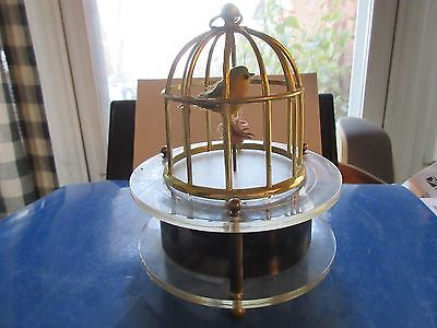 Vintage  Working Great Birdcage  AUTOMATION Music Box Dancing Bird
