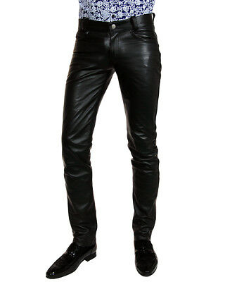 Bockle® HIM lower Lederjeans Herren Lederhose sehr tiefer Bund кожаные господа