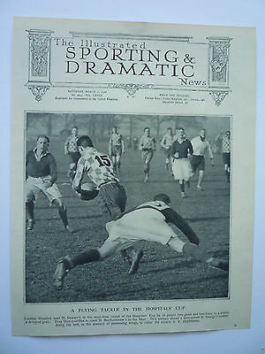 """ A Flying Tackle In The Hospitals' Cup "" 1928. Rare."