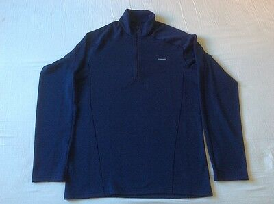 Patagonia capilene polartec zipped long arm top navy blue size small new w/o tag