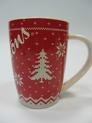 Tim Hortons Christmas Red White Sweater Coffee Tea Mug Cup #015