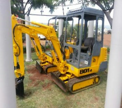 Jcb 801.4 Mini Digger Complete Decal Set With Safty Warning