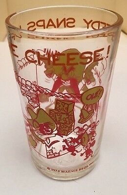 1 Vintage 1974 SPEEDY SNAPS UP THE CHEESE Warner Bros.Welch's Jelly Jar Glass